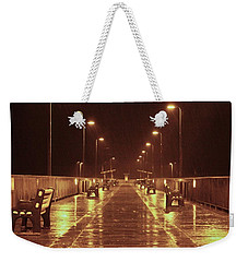 Rainy Night On The Pier Weekender Tote Bag