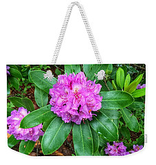 Rainy Rhodo Weekender Tote Bag