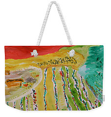 Raising Tomatoes On North Point Weekender Tote Bag by Mary Carol Williams