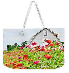 Raising Zinnia Flowers - Delaware Weekender Tote Bag