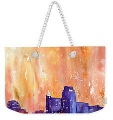 Raligh Skyline Sunset Weekender Tote Bag by Ryan Fox