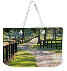 Ranch Road In Texas Weekender Tote Bag by Connie Fox