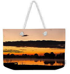 Weekender Tote Bag featuring the photograph Rancher's Sunrise by Steven Reed