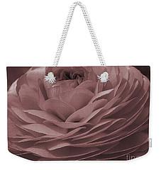 Weekender Tote Bag featuring the photograph Ranunculus Red by Jean OKeeffe Macro Abundance Art