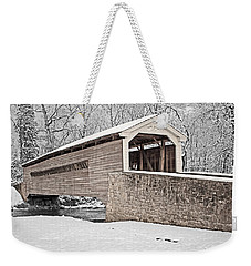 Rapps Bridge In Winter Weekender Tote Bag