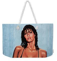 Raquel Welch Weekender Tote Bag by Paul Meijering