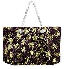 Weekender Tote Bag featuring the photograph Raspberry Circles by Jean OKeeffe Macro Abundance Art