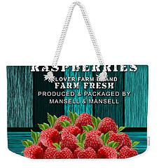 Raspberry Farm Weekender Tote Bag