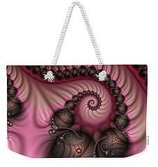 Weekender Tote Bag featuring the digital art Raspberry Ice Cream For Breakfast by Gabiw Art