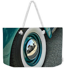 Weekender Tote Bag featuring the photograph Rat Rod Reflection by Victor Montgomery