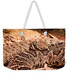 Rattlesnake Up Close And Personal Weekender Tote Bag