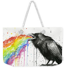 Raven Tastes The Rainbow Weekender Tote Bag
