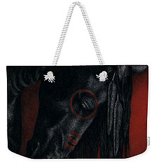 Weekender Tote Bag featuring the painting Raven Wing by Pat Erickson