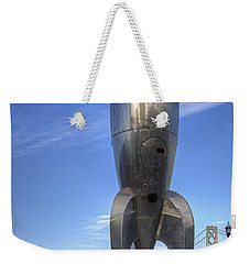Weekender Tote Bag featuring the photograph Raygun Gothic Rocketship by Kate Brown