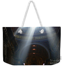 Rays Of Hope St. Peter's Basillica Italy  Weekender Tote Bag by Bob Christopher