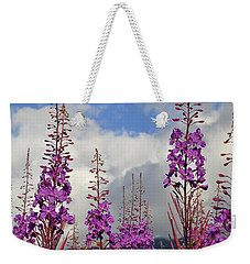 Weekender Tote Bag featuring the photograph Reach For The Sky by Cathy Mahnke