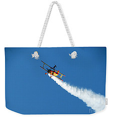 Reaching For The Moon. Oshkosh 2012. Postcard Border. Weekender Tote Bag