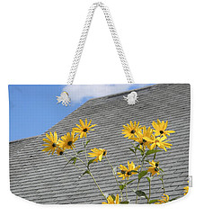 Weekender Tote Bag featuring the photograph Reaching by Jean Goodwin Brooks