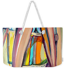 Weekender Tote Bag featuring the painting Read On by Ecinja Art Works