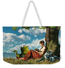 Reading About Dragons Weekender Tote Bag