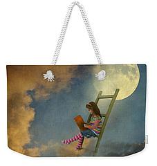 Reading At Moonlight Weekender Tote Bag