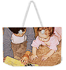 Story Time Weekender Tote Bag by Valerie Reeves