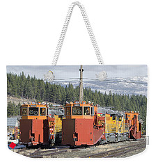 Ready For More Snow At Donner Pass Weekender Tote Bag by Jim Thompson