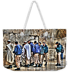 Weekender Tote Bag featuring the photograph Real Homeland Security In Israel by Doc Braham