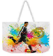 Real Madrid - Portuguese Forward Cristiano Ronaldo Weekender Tote Bag
