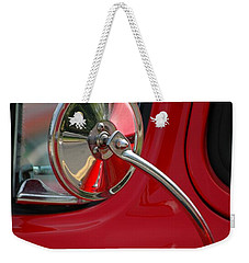 Weekender Tote Bag featuring the photograph Rear View by Christiane Hellner-OBrien