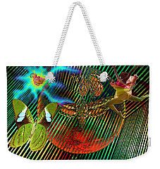 Rebirth Of Life Weekender Tote Bag by Joseph Mosley