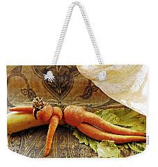 Reclining Nude Carrot Weekender Tote Bag by Sarah Loft