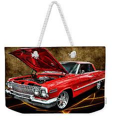 Red '63 Impala Weekender Tote Bag