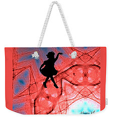 Red Abstract Curtain Call Weekender Tote Bag