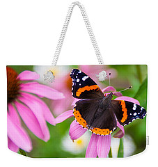 Red Admiral Butterfly Weekender Tote Bag by Patti Deters