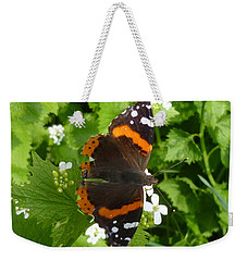 Weekender Tote Bag featuring the photograph Red Admiral In Toronto by Lingfai Leung