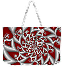 Red An Gray Weekender Tote Bag by Gabiw Art
