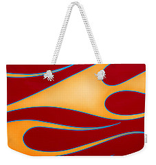 Weekender Tote Bag featuring the photograph Red And Gold by Joe Kozlowski