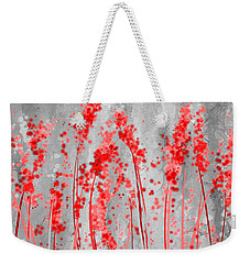 Red And Gray Art Weekender Tote Bag