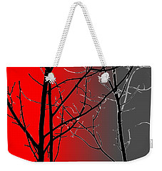 Red And Gray Weekender Tote Bag by Cynthia Guinn