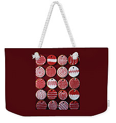 Red And White Christmas Cookies Weekender Tote Bag
