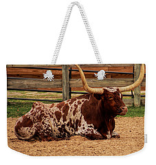 Red And White Texas Longhorn Weekender Tote Bag