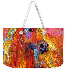 Red Arabian Horse Impressionistic Painting Weekender Tote Bag
