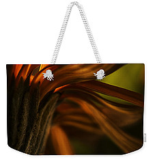 Weekender Tote Bag featuring the photograph Red Autumn Blossom Detail by Peter v Quenter