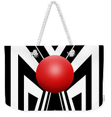 Red Ball 7 V Panoramic Weekender Tote Bag