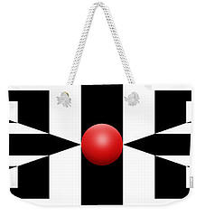 Red Ball 2a Panoramic Weekender Tote Bag