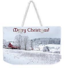Red Barn Christmas Card Weekender Tote Bag