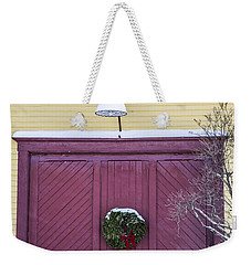 Red Barn Door Weekender Tote Bag