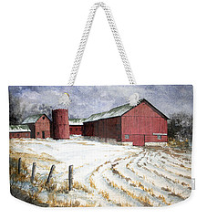 Red Barn On Rt. 49 Weekender Tote Bag