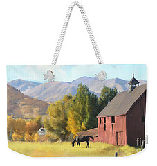 Red Barn Weekender Tote Bag by Rob Corsetti